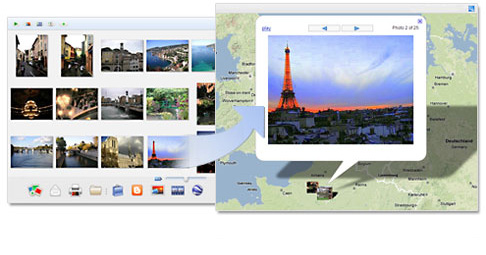 Screenshot describing adding geotags to pictures in Picasa